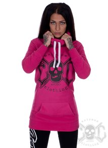 eXc Long Skull Logo Fleece, Rosa