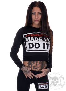 eXc Made Me Do It Cropped Crewneck, Svart