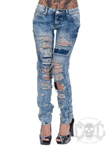 Light Blue Scratch Denim