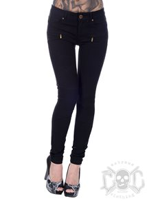 Black Zipped Biker Pants