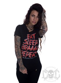 eXc Eat Sleep Braaap Tee