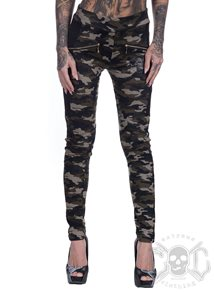 eXc Green Camo Skull Tights