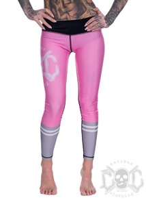 eXc Skull Work Out Leggings, Rosa