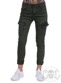 eXc Army Green Zipped Cargo Pants
