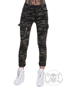 eXc Camo Zipped Cargo Pants