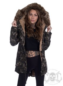 Sixth June Camo Parka with Dark fur