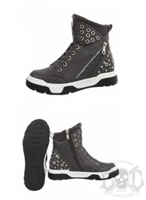 Studs High Shoes, Grey
