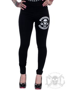 Bikergirl Wings Leggings, Svarta