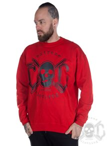 eXc Skull Sweatshirt, Red