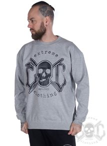 eXc Skull Sweatshirt, Grey